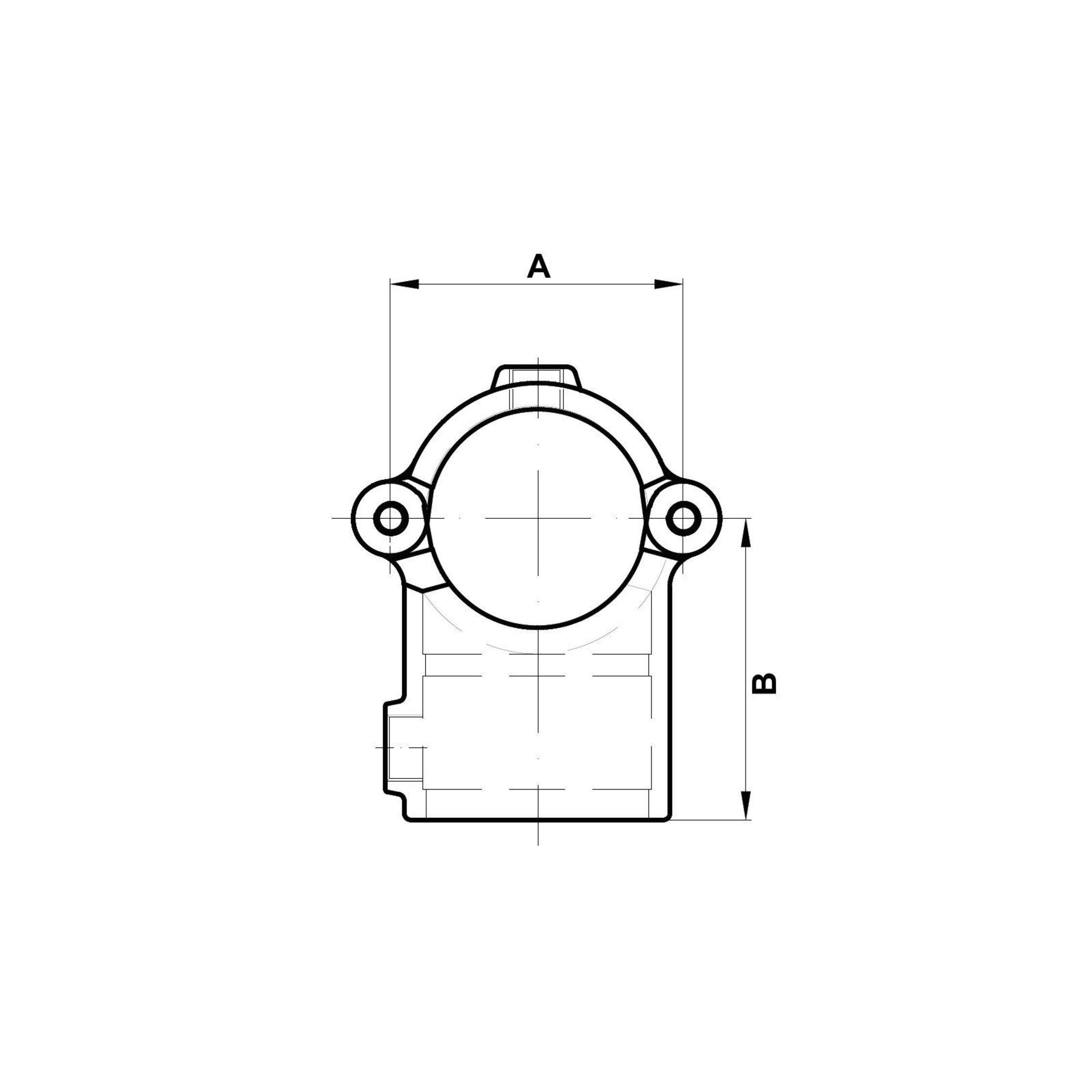 /Ø42,4 mm Rohrverbinder T-Verbinder klappbar AVERDE 1 1//4