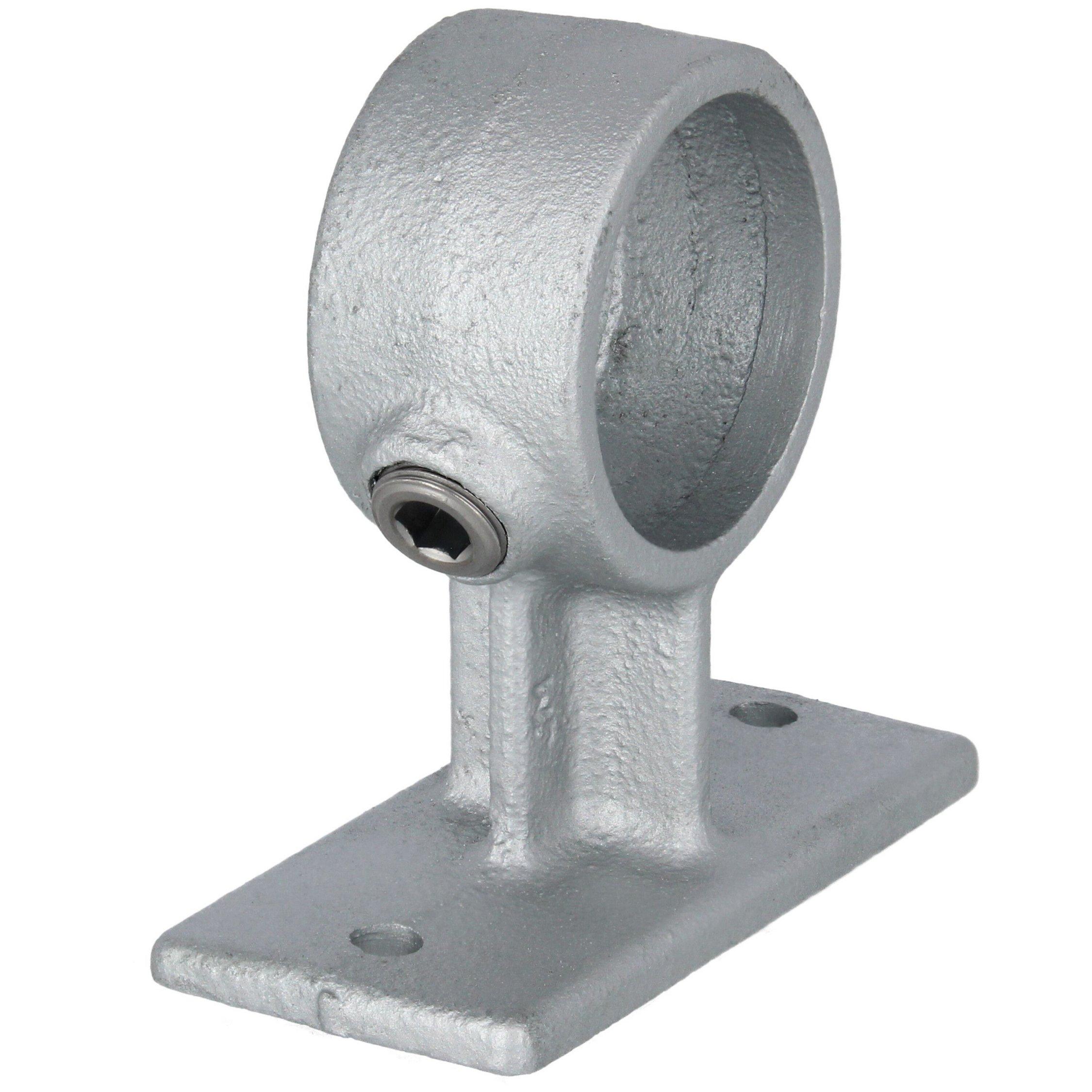 """Ladenbau Geländer Rohrverbinder Temperguss Fußplatte rund 1 1//4/"""" 42,4 mm"""