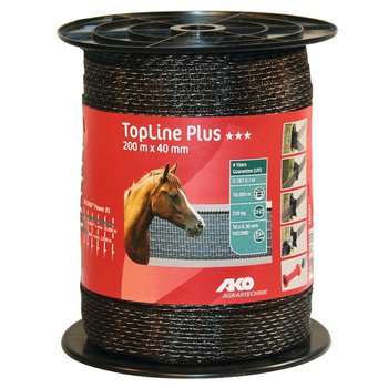Weidezaunband TopLine Plus TriCOND braun 40 mm, 0,187 Ohm/m, 200 m